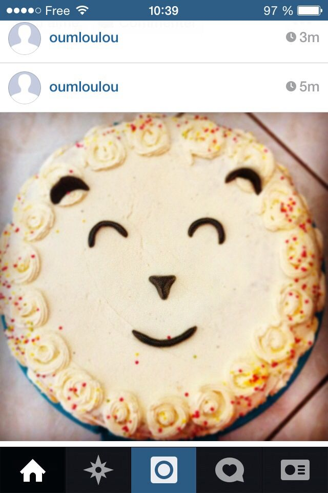 Gateau mouton de l aid, eid sheep cake