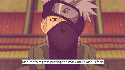 The regrets of kakashi sensei's face! Naruto shippuden
