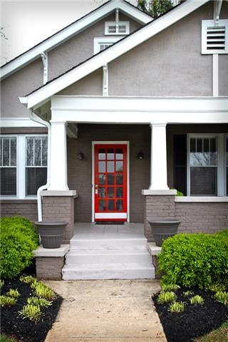 Red Door Grey House 621 e lytle st , murfreesboro, tn, 37130 | grey houses, doors and gray