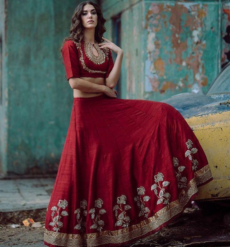 Jayanti reddy # lehenga # bridal wear # red love #