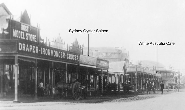 Mullumbimby NSW Main Street 1913. Terrible name for a cafe. Much has changed in Australia now - we trust!