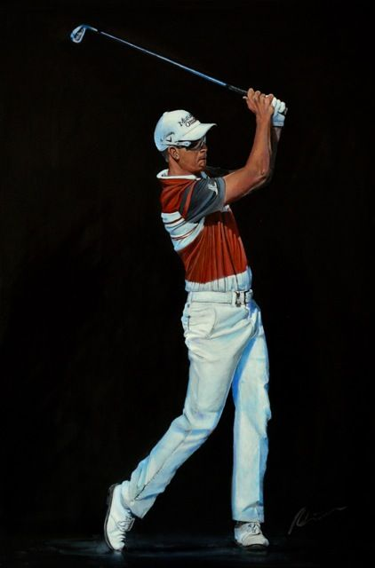 Henrik Stenson at the 25th Anniversary of the Dubai Desert Classic. Painted on canvas by Mark Robinson #golf #art #dubai #racetodubai #mydubai #sweden #henrikstenson Note: Visit the Mark Robinson website for more details for available stock, commissions, exhibitions or tournament enquiries - www.robinsongolfart.com