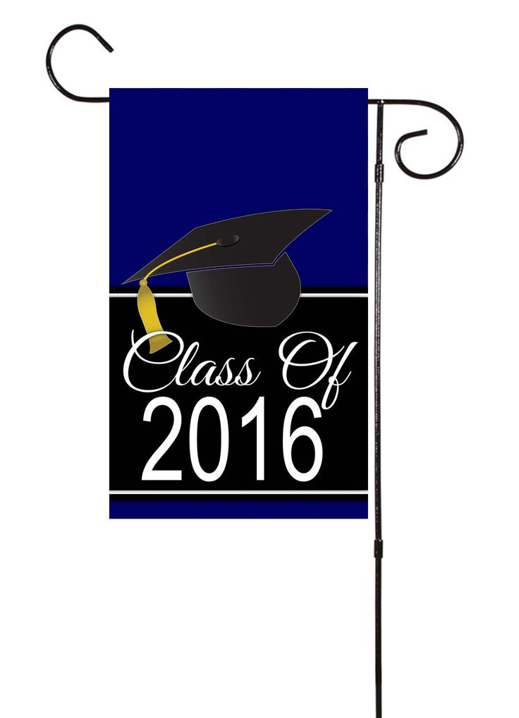 Graduation Class of 2016 Plain or Chevron Double Sided Garden Flag