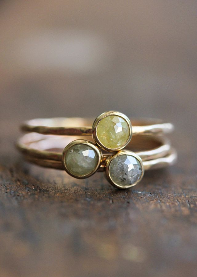 Gorgeous Hammered Stacking Ring - *Lovely Clusters - The Pretty Blog