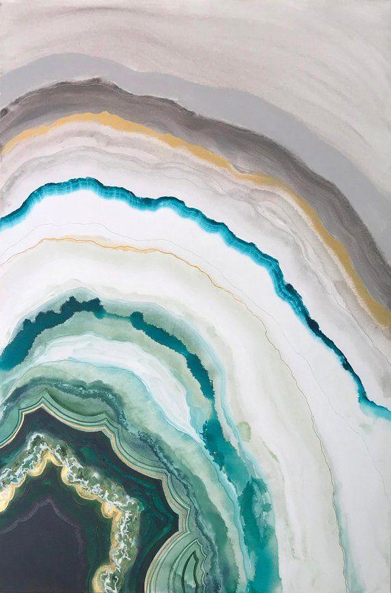 Green Agate 1 Print Art Poster 11x17 Marble Wallpaper Phone