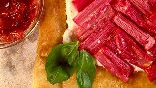 Roasted Strawberry Rhubarb Tart Recipe   The Chew - ABC.com