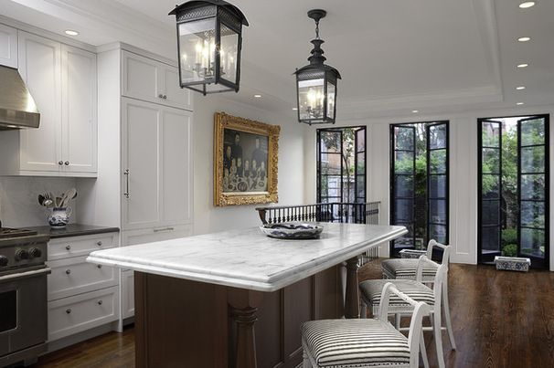 Traditional Kitchen by Thorsen Construction - floor-to-ceiling french doors w/ steel frames