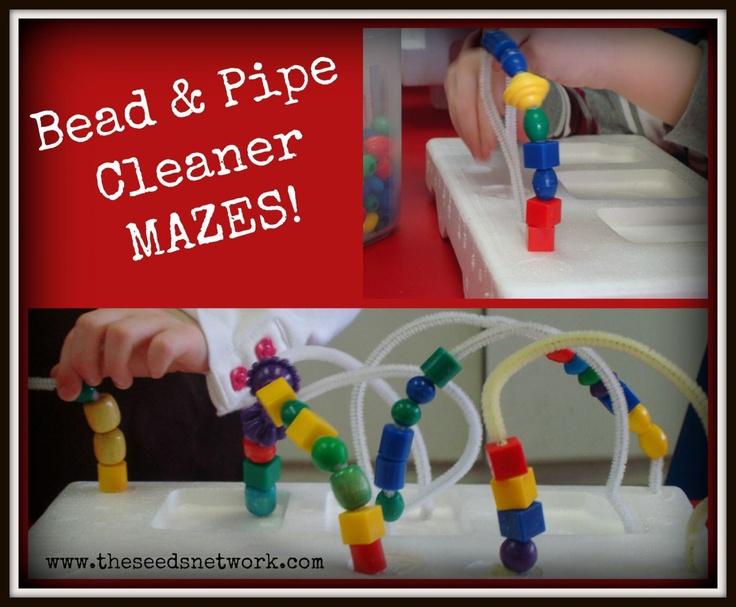 Making bead mazes in preschool | The SEEDS Network