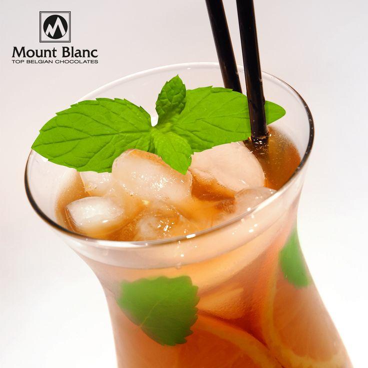 Cytrynowo-miętowe Ice Tea z pomarańczą i miętą
