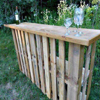 pallet patio furniture a bar diy pinterest paletten m bel f r drau en m bel und. Black Bedroom Furniture Sets. Home Design Ideas