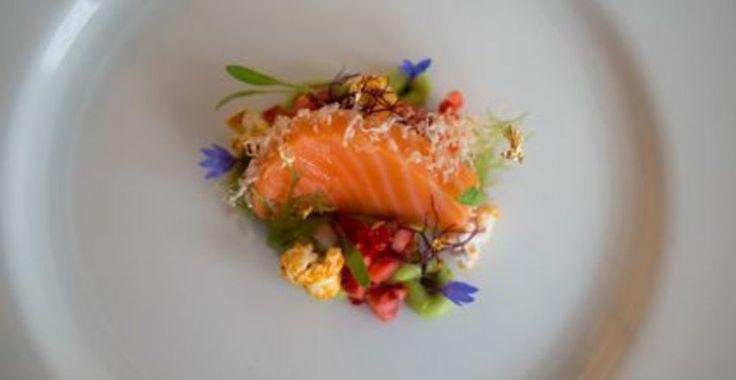 King Salmon, Corn, Avocado - Chef Bing Liu