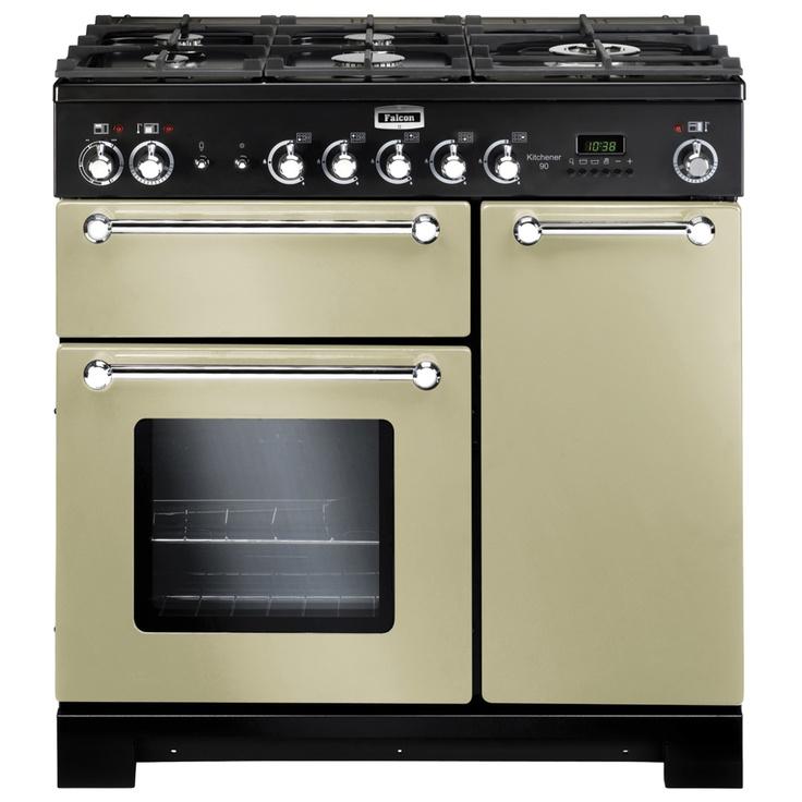 FALCON, 90cm, KITCHENER, KCH90DFF + Colour, Dual Fuel, black, cream