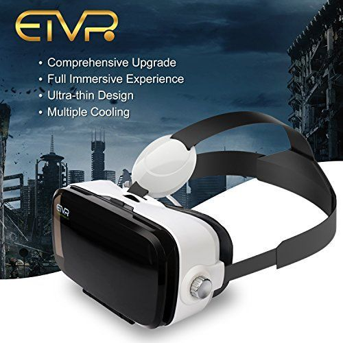 ETVR Upgrade Immersive 3D VR Virtual Reality Headset  More Lighter More Thinner Immersive Virtual Reality Glasses - Your Private Movie Theater ( 4.5-6.2 Inches )