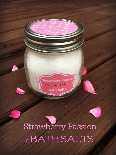 These sweet smelling Strawberry Bath Salts are perfect for soaking your worries away!