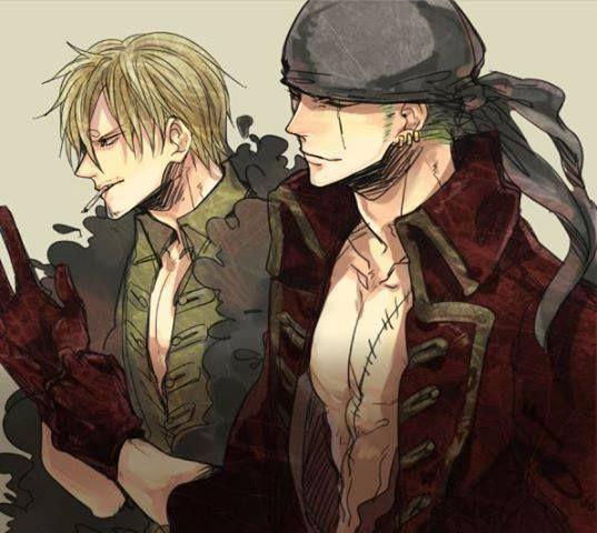 Roronoa Zoro & Sanji,Straw Hat Pirates - One Piece,Anime