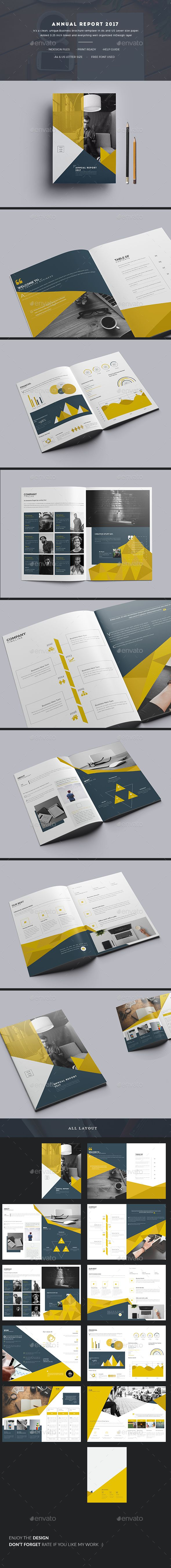 Annual Report 2017 Template InDesign INDD - 20 Pages, A4 & US Letter size