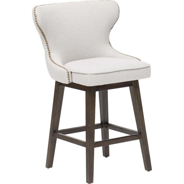 Ariana Swivel Counter Stool, Light Grey - Dining Stools - Dining - Furniture