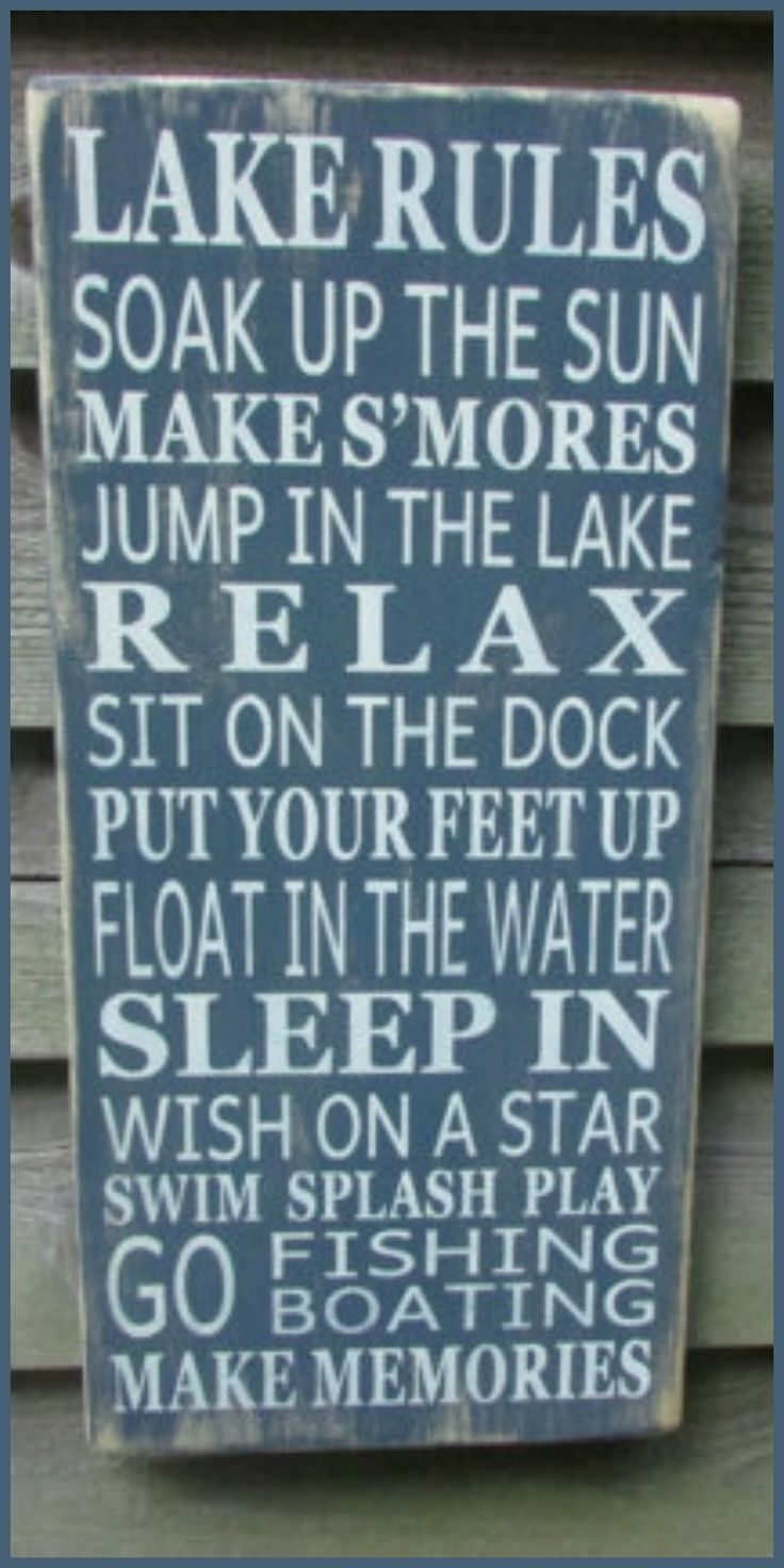 Love the lake rules!  #country #rustic #sign #etsy #ad