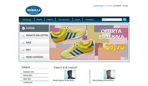 Nuovo lavoro e-commerce della ffdesigner
