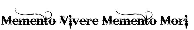 Memento Vivere Memento Mori Tattoo designed using TattooGen.com.