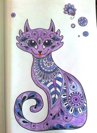 101 mandal pro krásný den .... Umělecká kočka