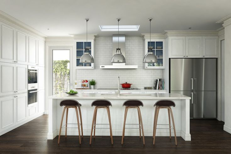 Painted Inside Cabinets, Transitional, kitchen, Destination Living