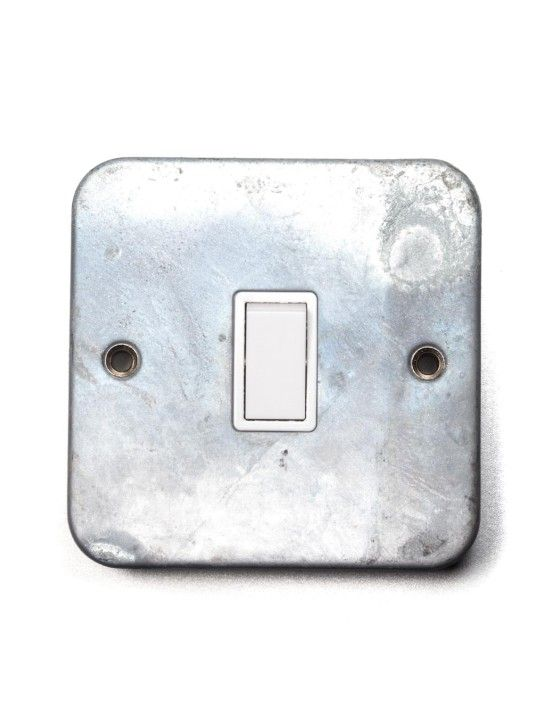 Galvanised Switch to match Galv Trunking