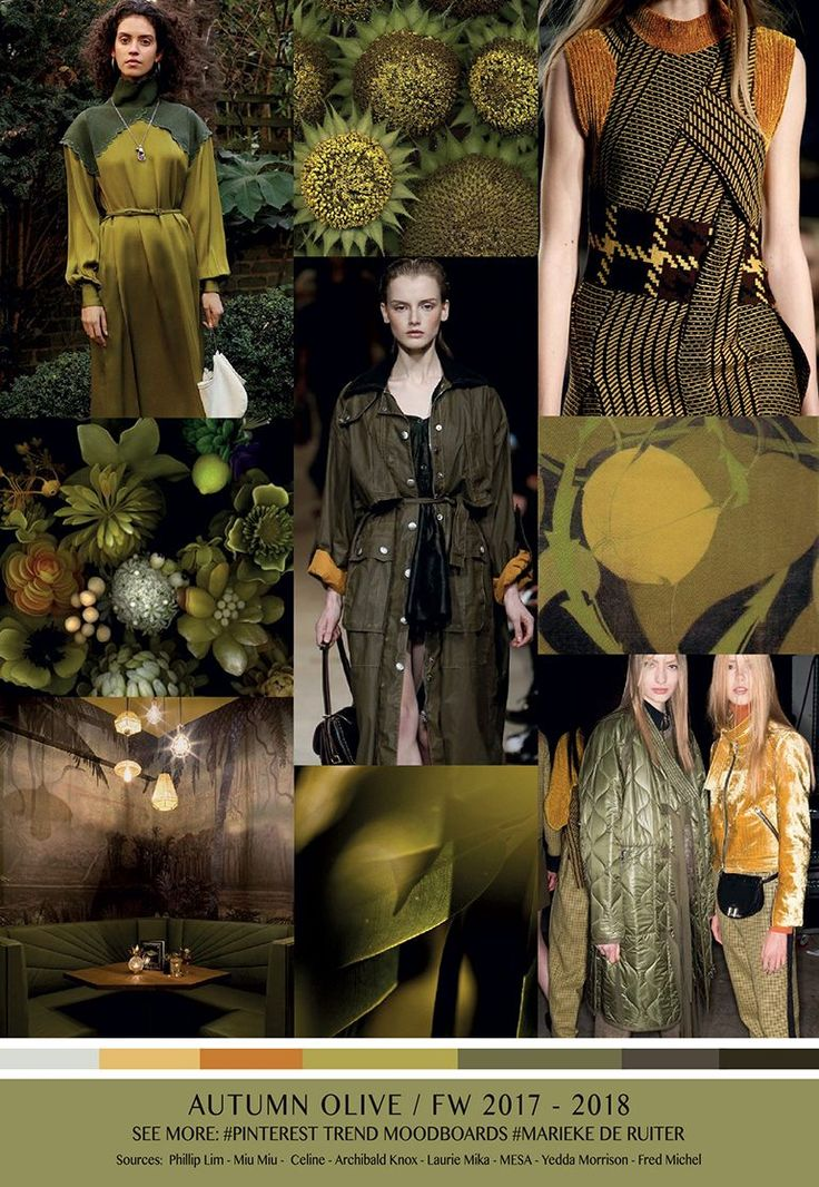 TrendSenses Moodboard Autumn Olive 2017 2018 - We collect and select. We research and reflect - Trendsenses.com