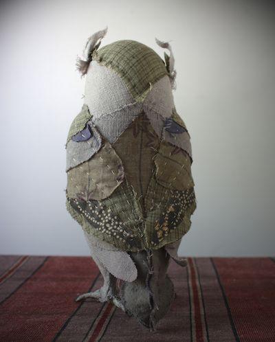 Textile owl - Ann Wood Handmade
