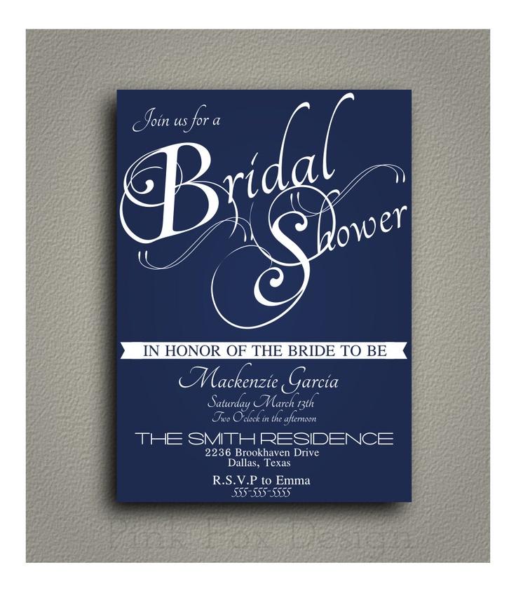 Simple Vintage Bridal Shower Invitation, Wedding Shower invitation -- Printable, DIY, Digital --