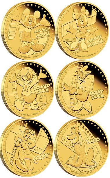 #Mickey&Friends 2014: 1/4 oz GOLD coins from http://www.newzealandmint.com