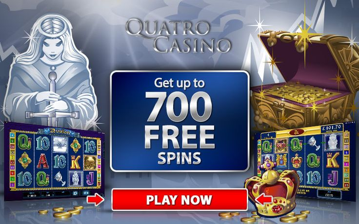 QUATRO CASINO Welcome to the biggest online casino bonuses on the Internet! Get up to 700 Free Spins! Plus a match bonus. Why look elsewhere when you know what you're looking at is the best out there? CasinoRewardsGroup