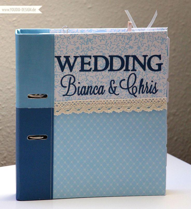 Hochzeitsplaner selbstgemacht mit der Silouette #Cameo #Hochzeitsplanung #Weddingplanner | www.youdid-design.de
