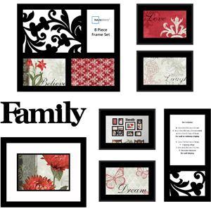 mainstays 8 piece family frame set