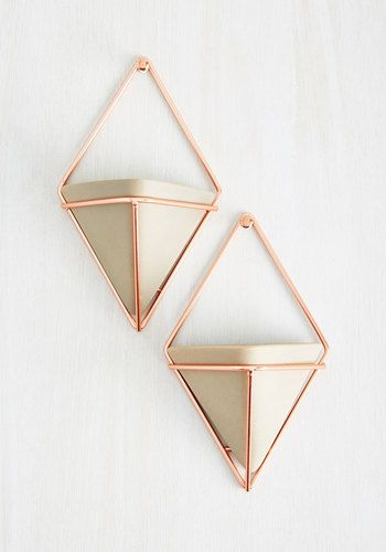 Exemplary Contemporary Wall Vase Set in Rose Gold - Gold, Good, Tan / Cream, Minimal, Variation, Dorm Decor, Luxe, Spring, Summer, Winter, Wedding, 50s, Mid-Century, Best Seller, Best Seller, Luxe Gifts, Under 50 Gifts