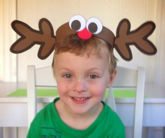 Printable reindeer hat...