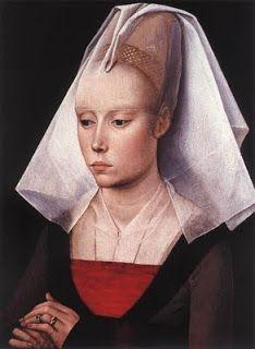 .História da Moda.: A Moda na Era Medieval – Parte 3: Anos 1350 a 1450 (Late Gothic) Hénnin de cone ou pré hénnin