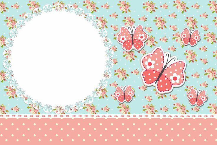 Dicas pra Mamãe: Convites Gratuitos Vintage Floral para festas Jardim Encantado