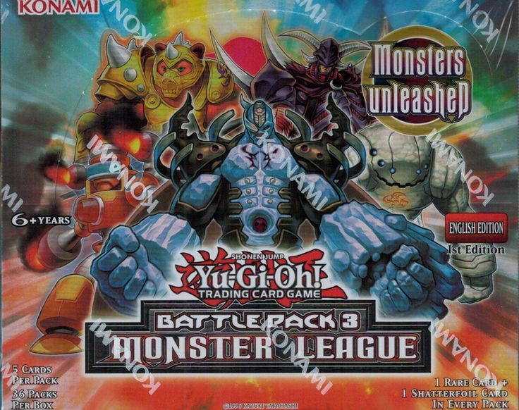 Yugioh Battle Pack 3 Monster League Booster Box With Images