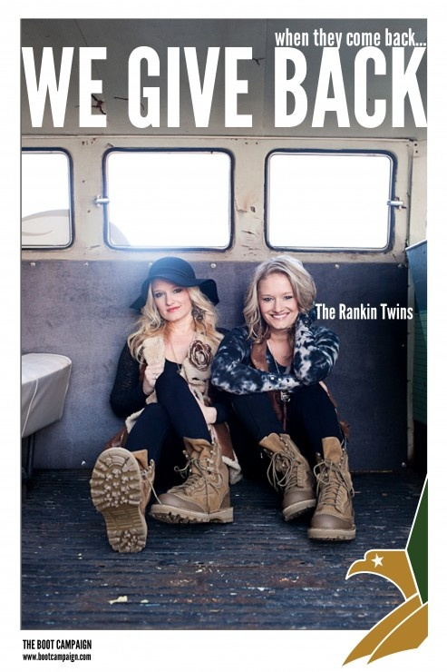 The Rankin Twins say get your Boots on! Get YOUR BOOTS on! http://www.bootcampaign.com