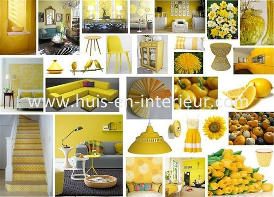 Shades of yellow - http://www.huis-en-interieur.com