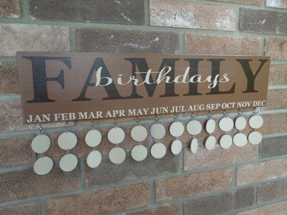 No Vinyl  Family Birthday Reminder Board Sign  by sweetJAMshop, $55.00