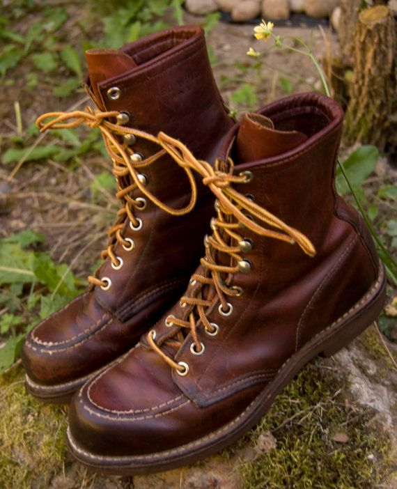Vintage Red Wing Irish Setter Lumberjack Hunting Work Boots -- love these for fall!