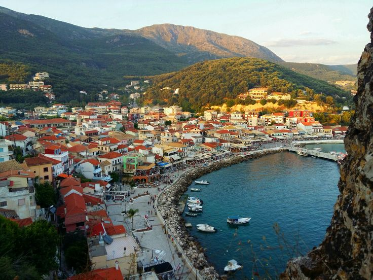 Parga 💙Greece view from castle