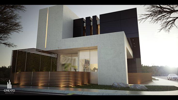 Casa m 9 provenza esquina atardecer fachada creato for Casas minimalistas grandes