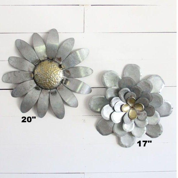 Metal Wildflower Wall Art Wildflower Wallart Vintage Industrial Decor Metal Wall Flowers Metal Flowers