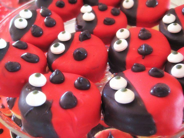 Ladybug biscuits