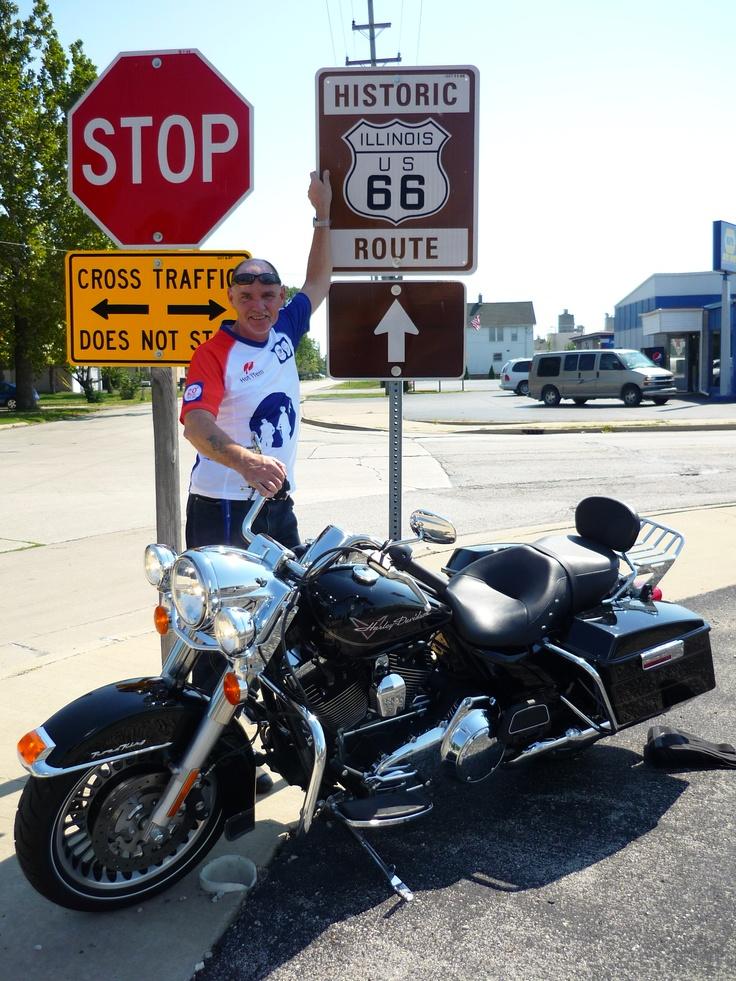 Henk bij de Route 66