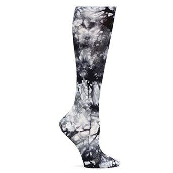 Nurse Mates Compression Trouser Tie Dye Socks (Grey-White Tie Dye) at Amazon Women's Clothing store - Best Compression Socks for Nurses and Nursing Students affiliate