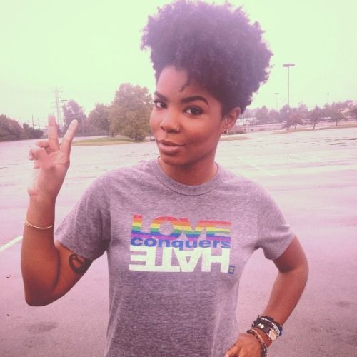 the hair... and equality shirt!!!!!